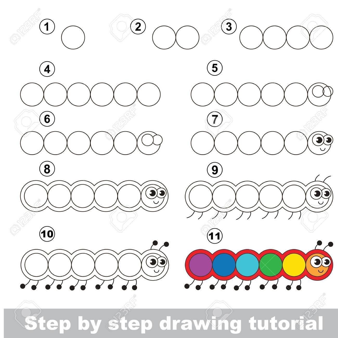 Vettoriale Educazione E Giochi Per Bambini Il Tutorial Di Disegno