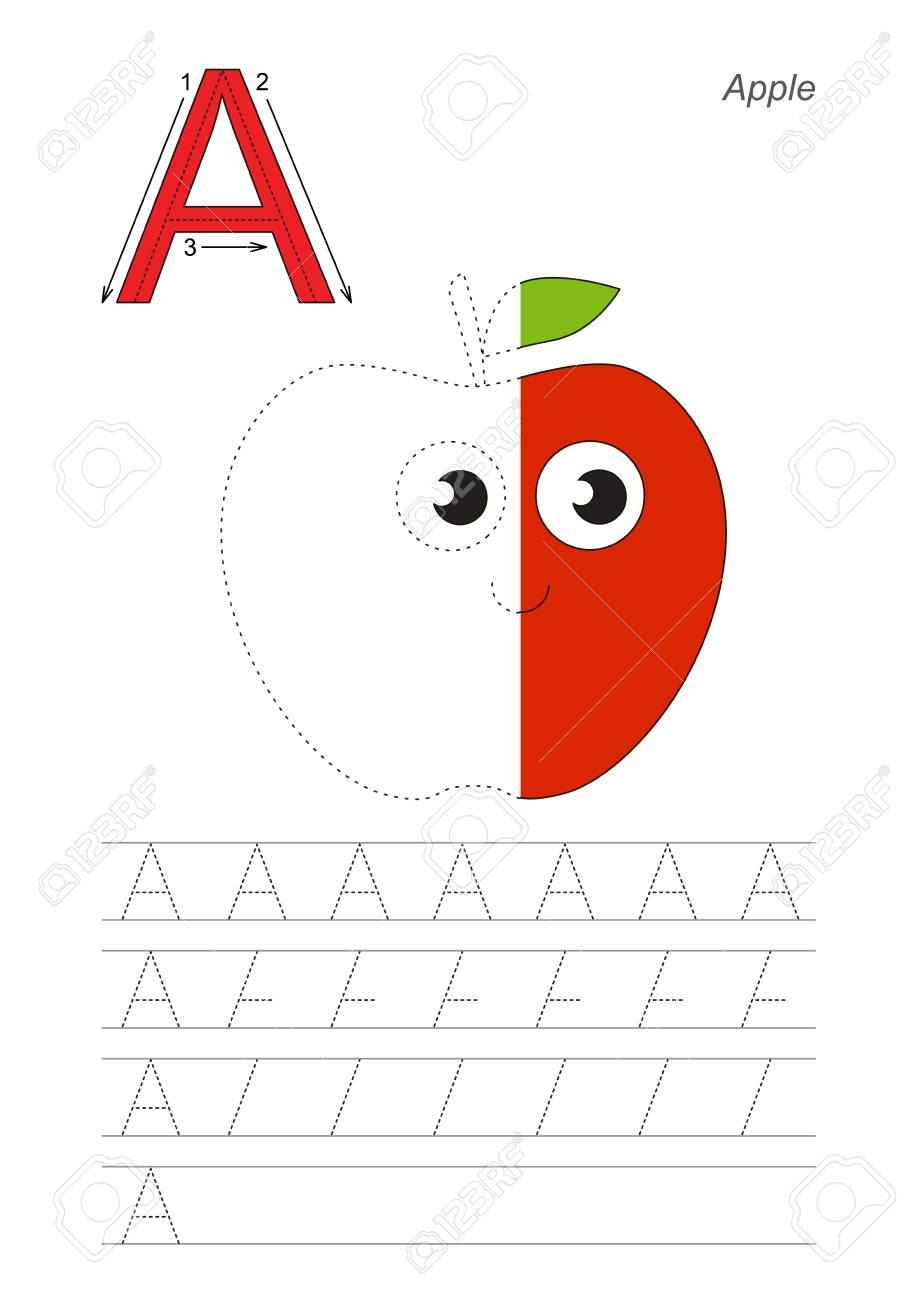 Vector Übung Illustrierte Alphabet, Kinder-Gaming Und Bildung. Lerne ...