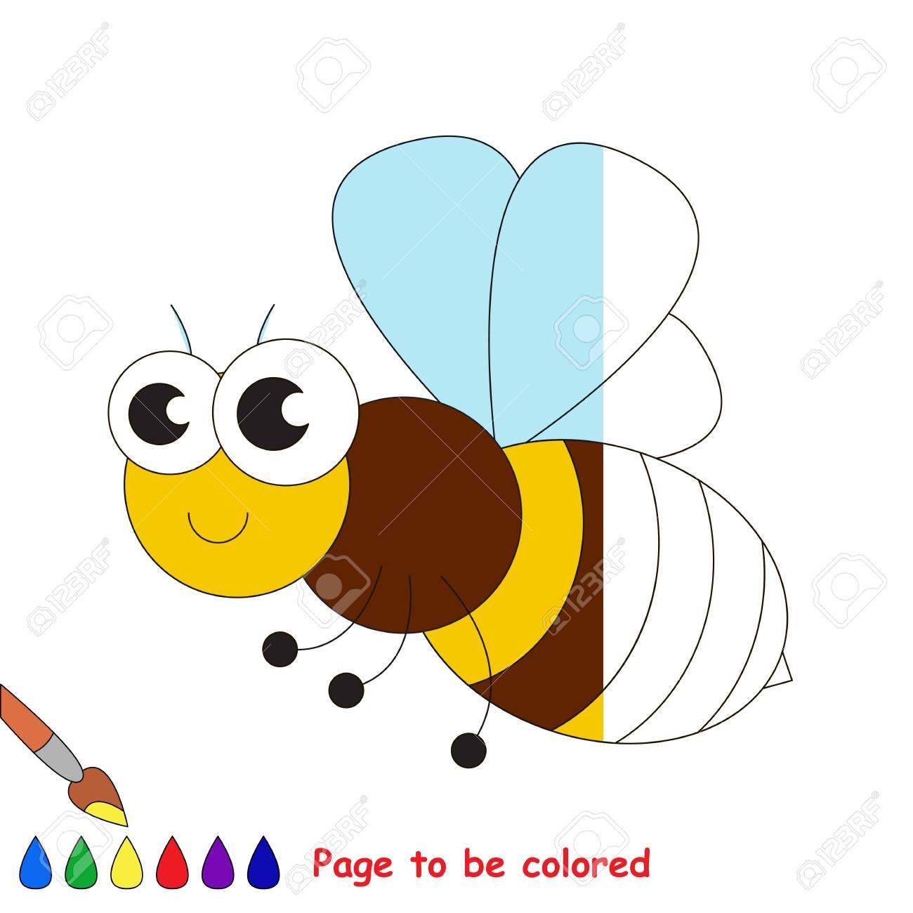 Ape Da Colorare Il Libro Da Colorare Per Educare I Bambini In Età
