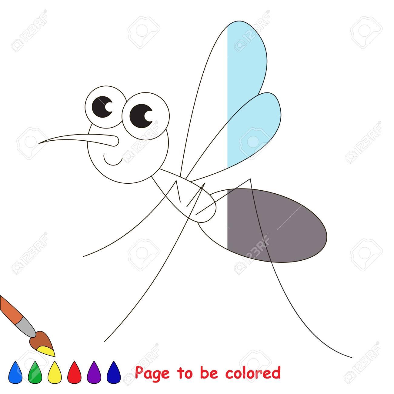 Vettoriale Zanzara Da Colorare Il Libro Da Colorare Per Educare I