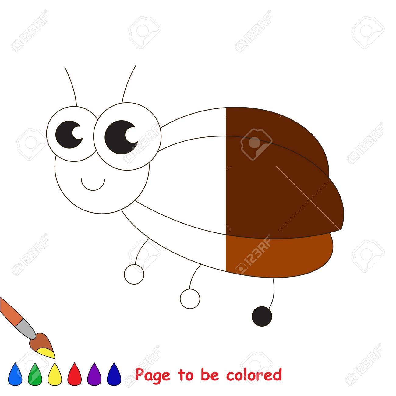 Pequeño Insecto Para Colorear El Libro Para Colorear Para Educar A Los Niños En Edad Preescolar Con Juegos Educativos Fáciles Para Niños Y