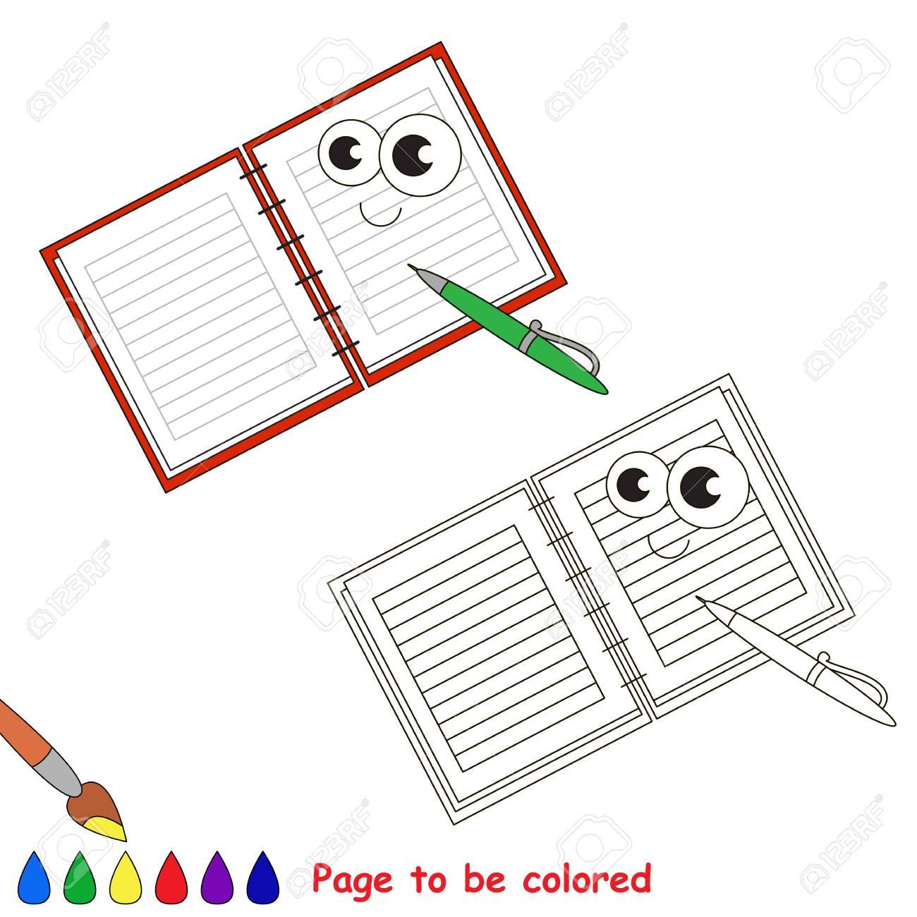 Schreibheft Mit Zu Farbendem Stift Malbuch Um Kinder Zu Erziehen