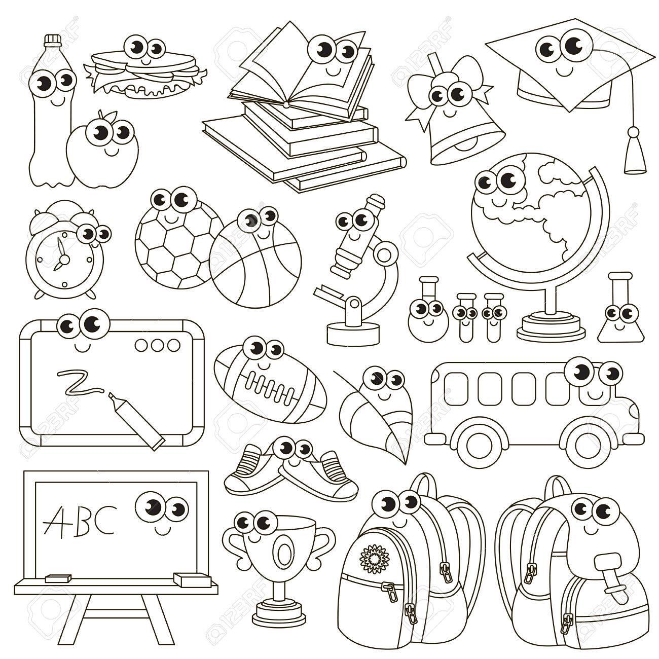 El Portero De La Escuela Debe Ser Coloreado Libro Para Colorear Para Educar A Los Niños Preescolares Fácil Niño Juegos Educativos Y Educación