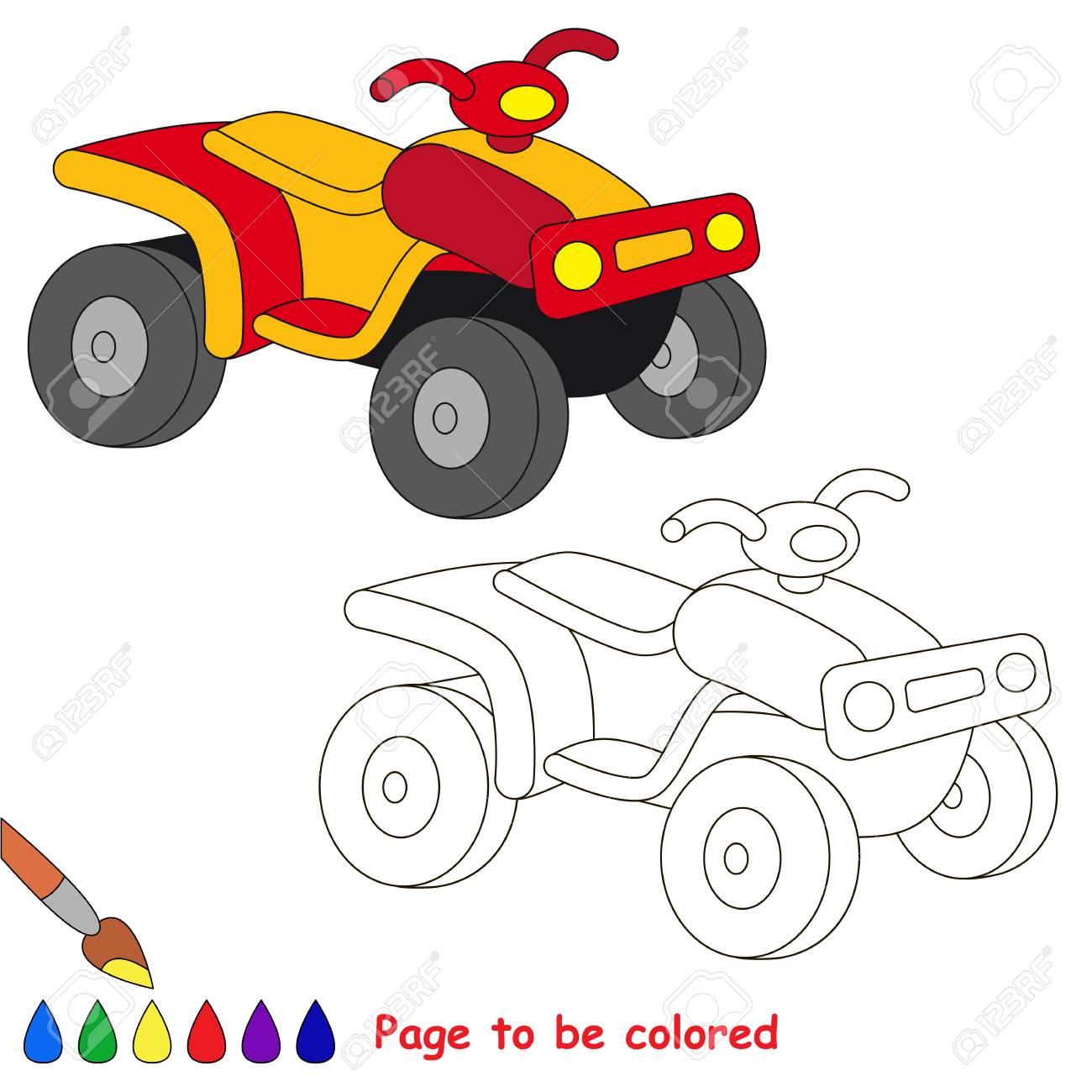 Quad A Colorier Le Livre De Coloriage Pour Eduquer Les Enfants D
