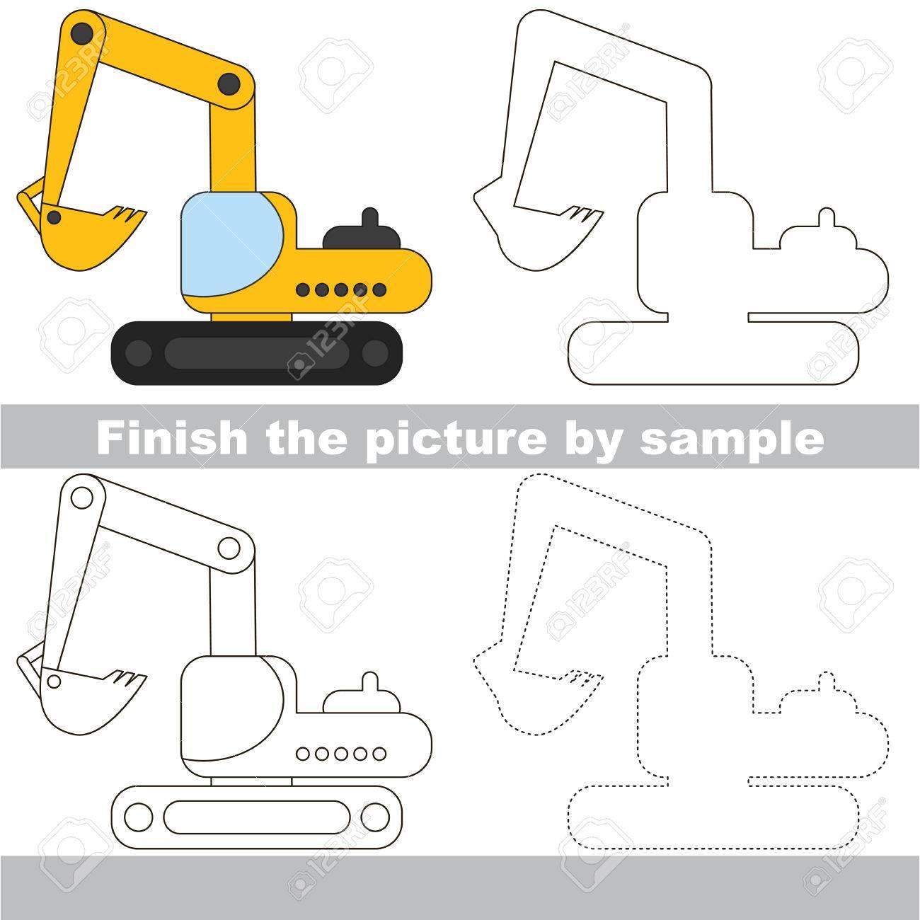 Zeichnung Arbeitsblatt Für Kinder. Einfache Pädagogische Kind Spiel ...