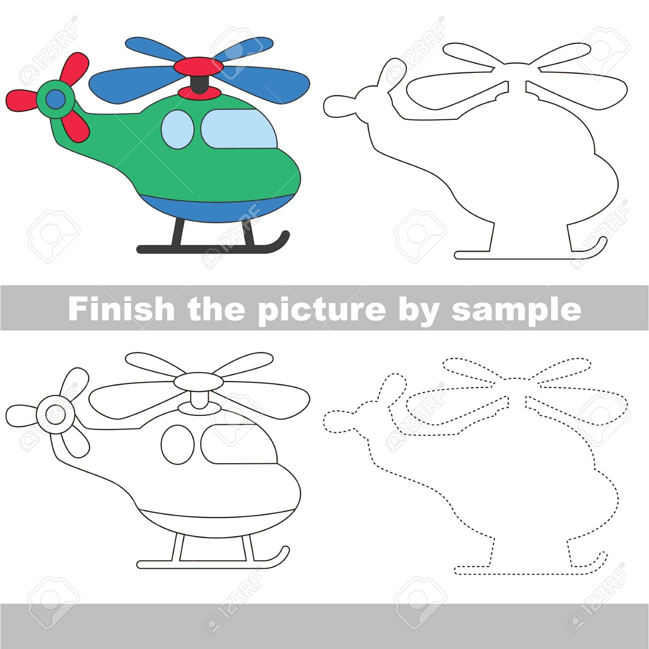 Arbeitsblatt Für Kinder Zeichnen Einfaches Pädagogisches Kinderspiel ...