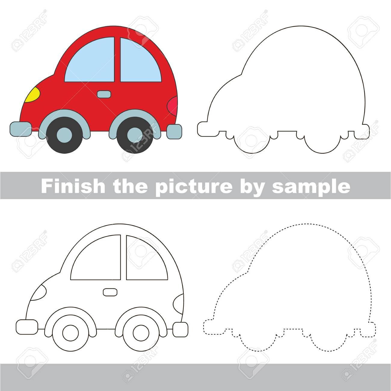 Arbeitsblatt Für Kinder Zeichnen. Einfaches Pädagogisches ...