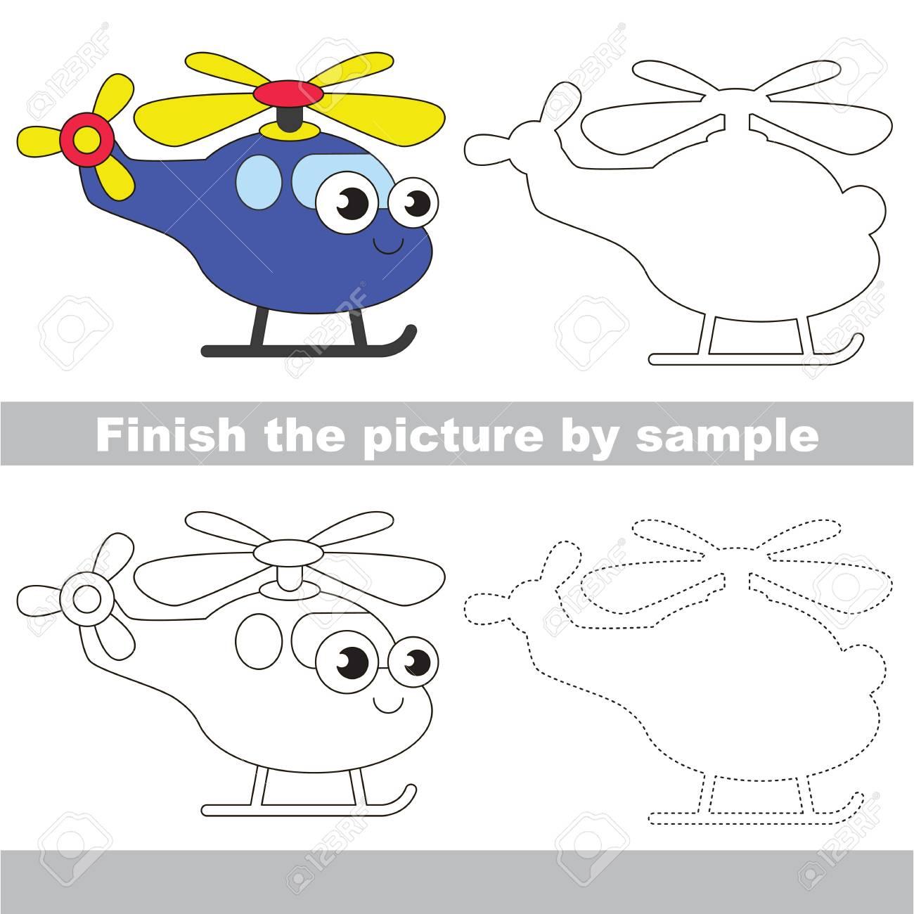 Drawing Worksheet For Children Easy Educational Kid Game Simple