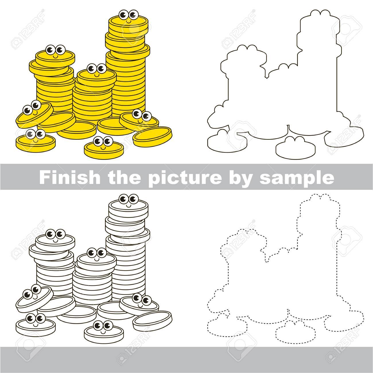 Zeichnungsarbeitsblatt Für Vorschulkinder Mit Einfachem Spielniveau ...
