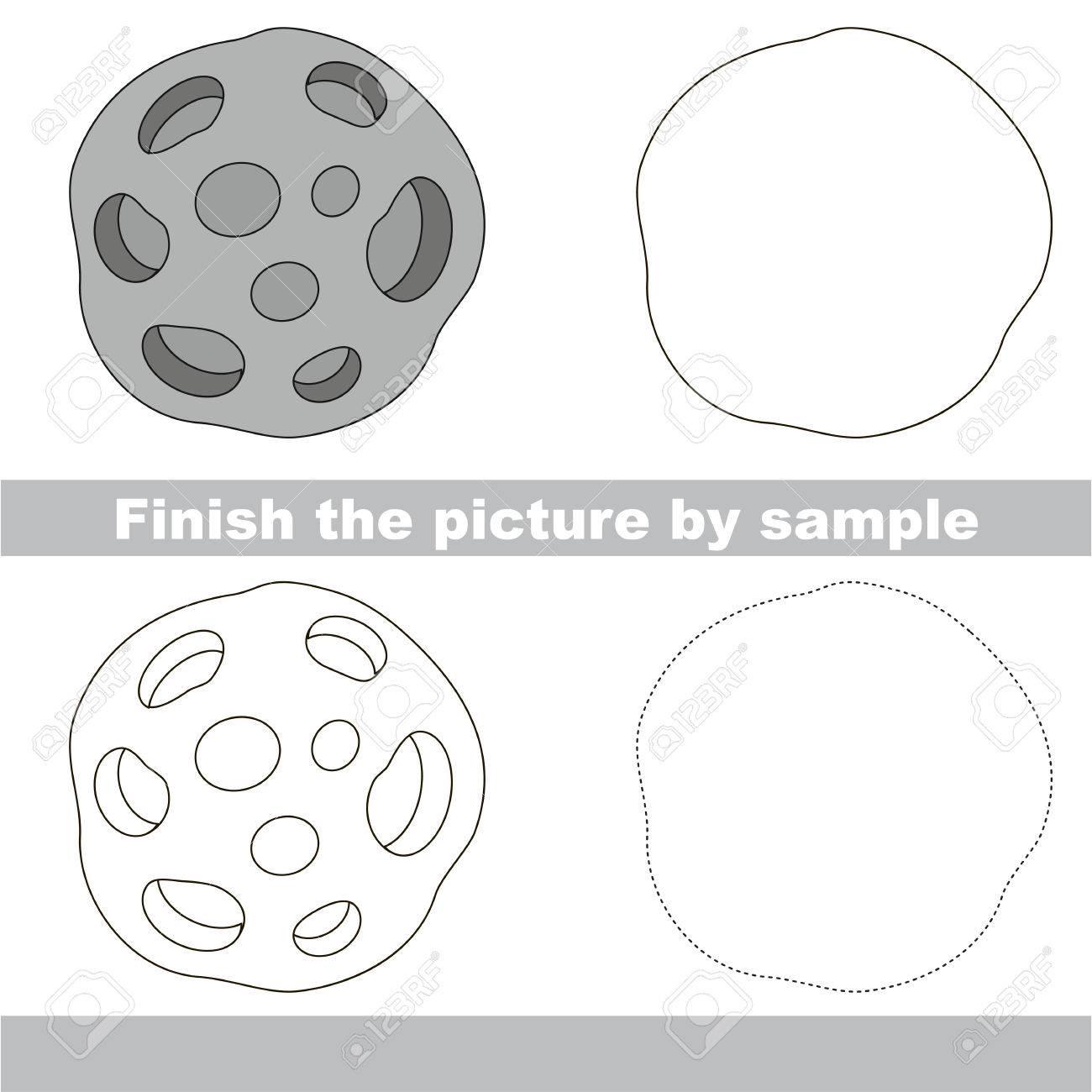 Hoja De Trabajo De Dibujo Para Niños Preescolares Con Fácil Nivel De ...