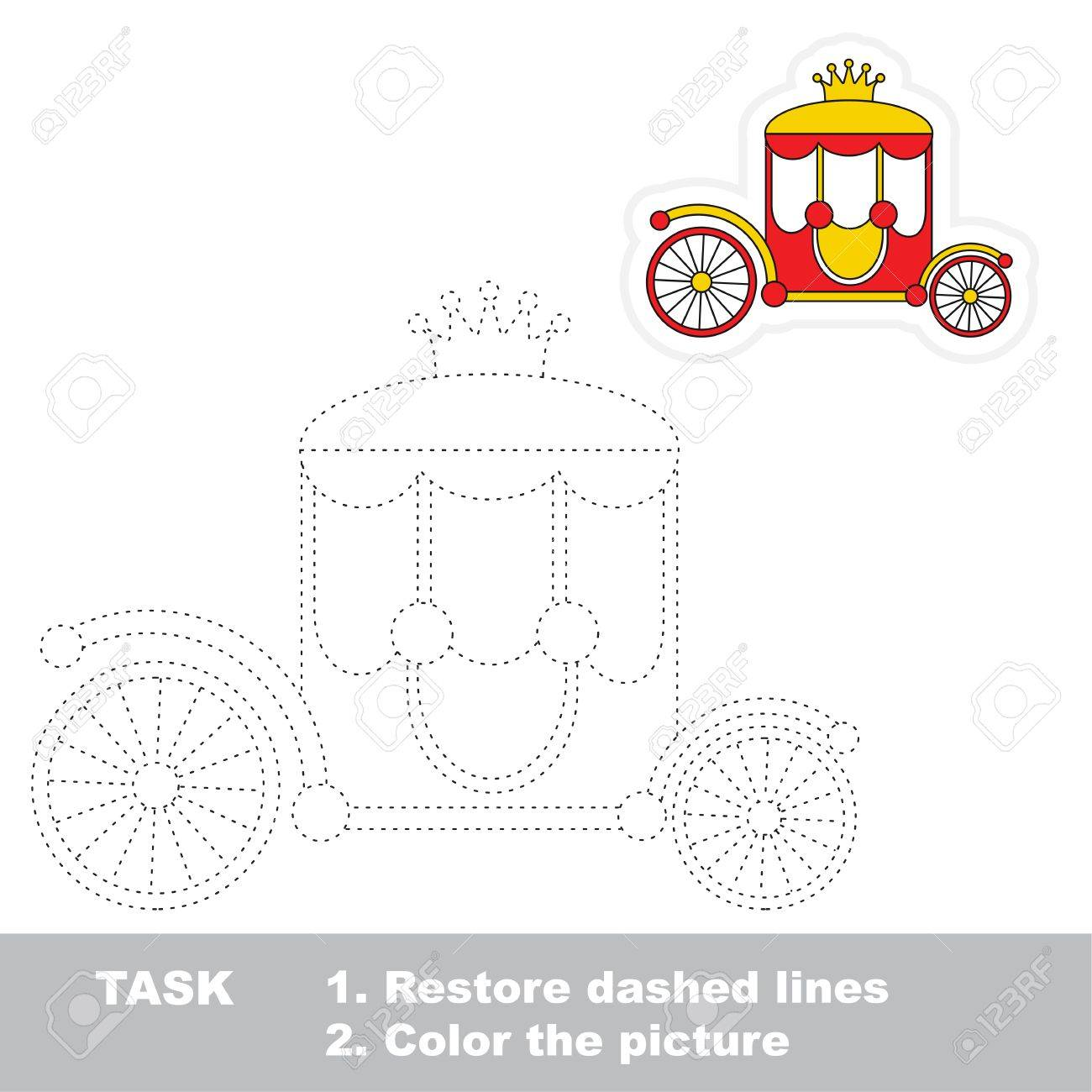 chariot dot to dot educational tracing game for preschool kids