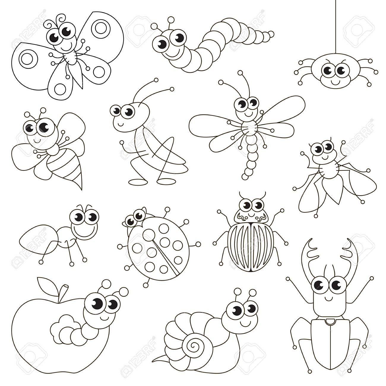 かわいい小さな虫はレベルが簡単な教育ゲーム就学前の子供のための