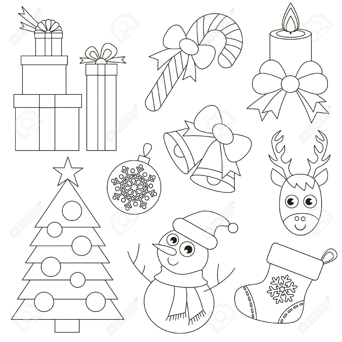 Christmas Holiday set set to be colored, the big coloring book..