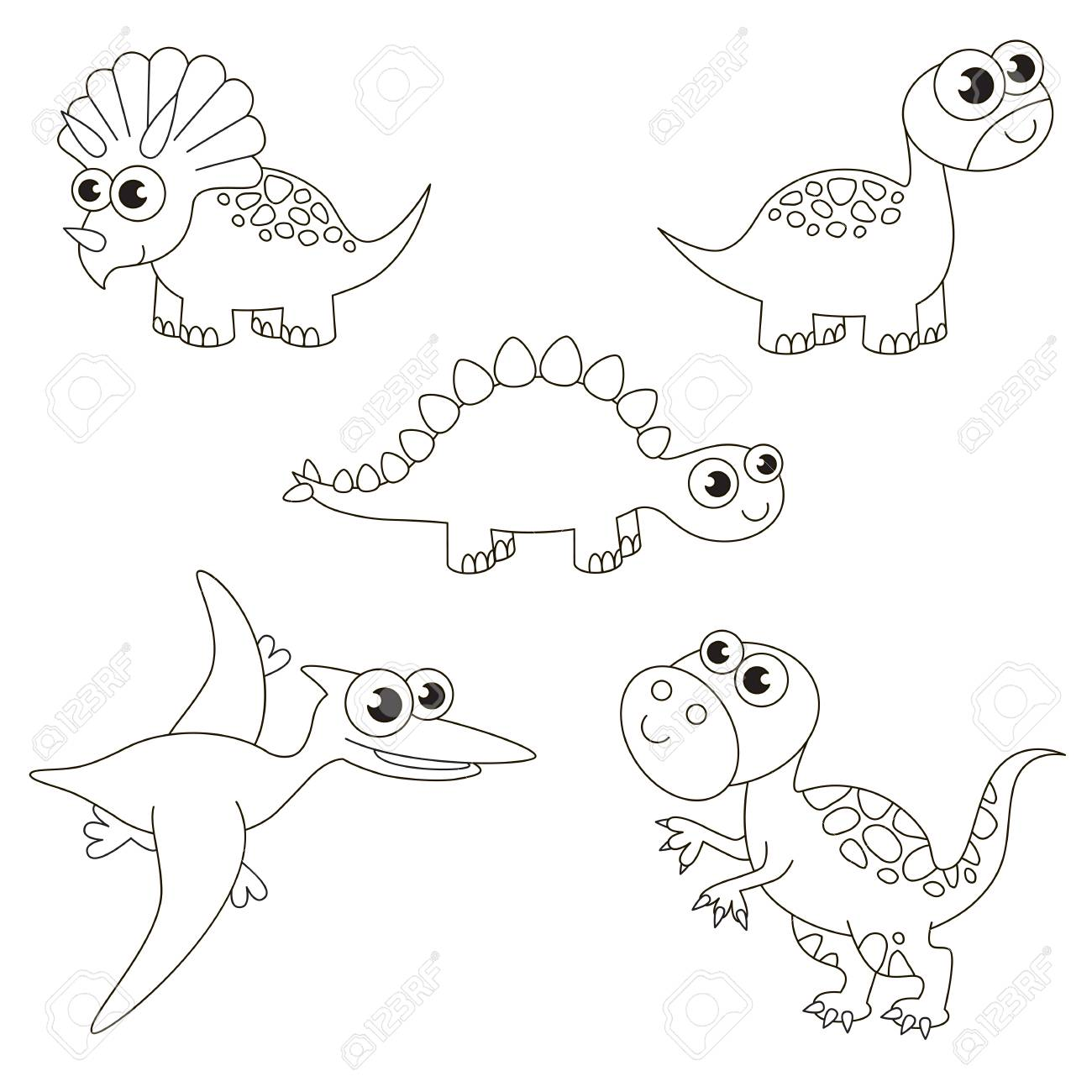 Colorless Tremendous Dinosaurus Dino Set To Be Colored The Big