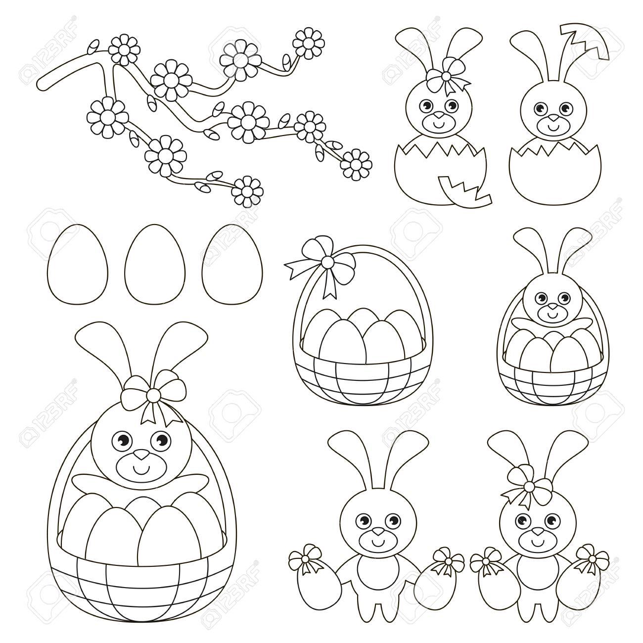 Easter Spring Holiday Set To Colorea, El Gran Libro Para Colorear ...