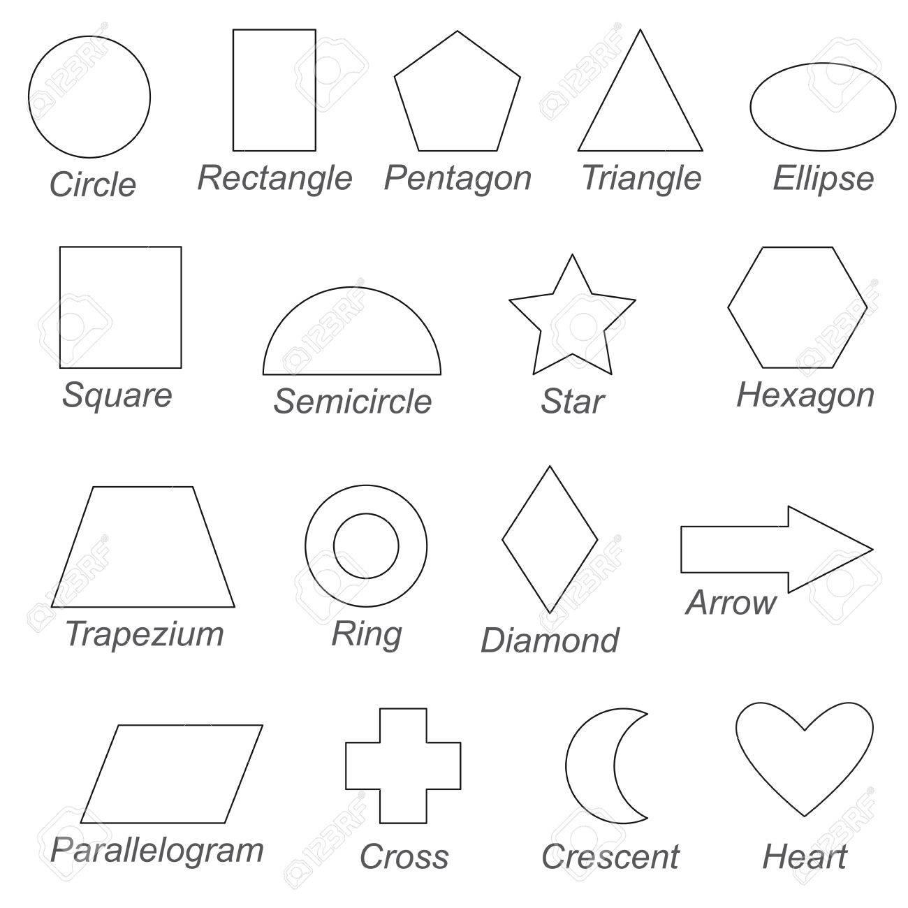 Formas Y Formas Geométricas Configuradas Para Ser Coloreadas El Gran Libro Para Colorear Para Niños En Edad Preescolar Con Un Nivel Educativo
