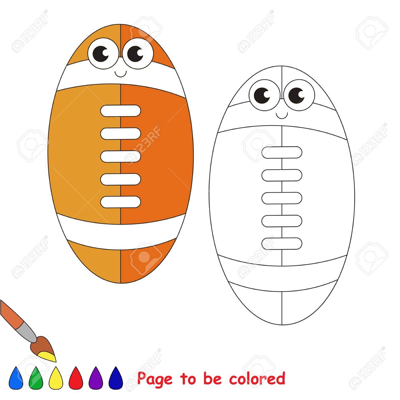 Funny Balón De Fútbol Para El Fútbol Americano A Ser De Color El