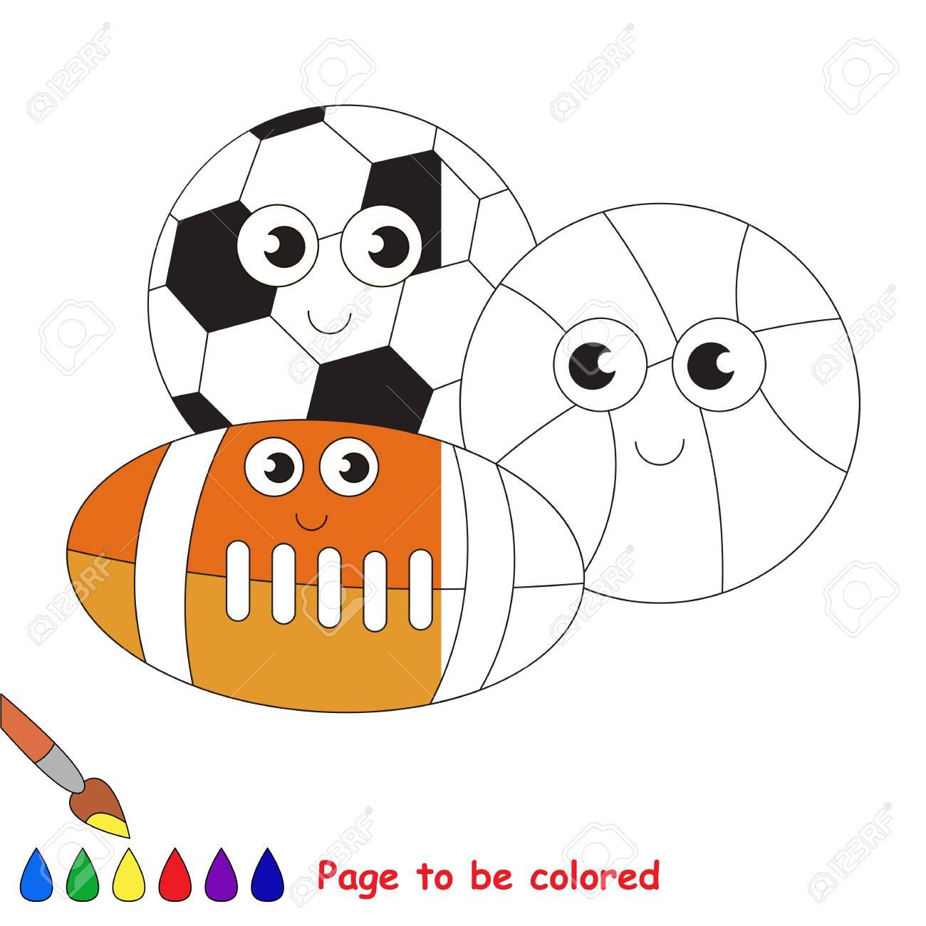 Set De Bolas Diferentes, El Libro Para Colorear Para Educar A Los ...