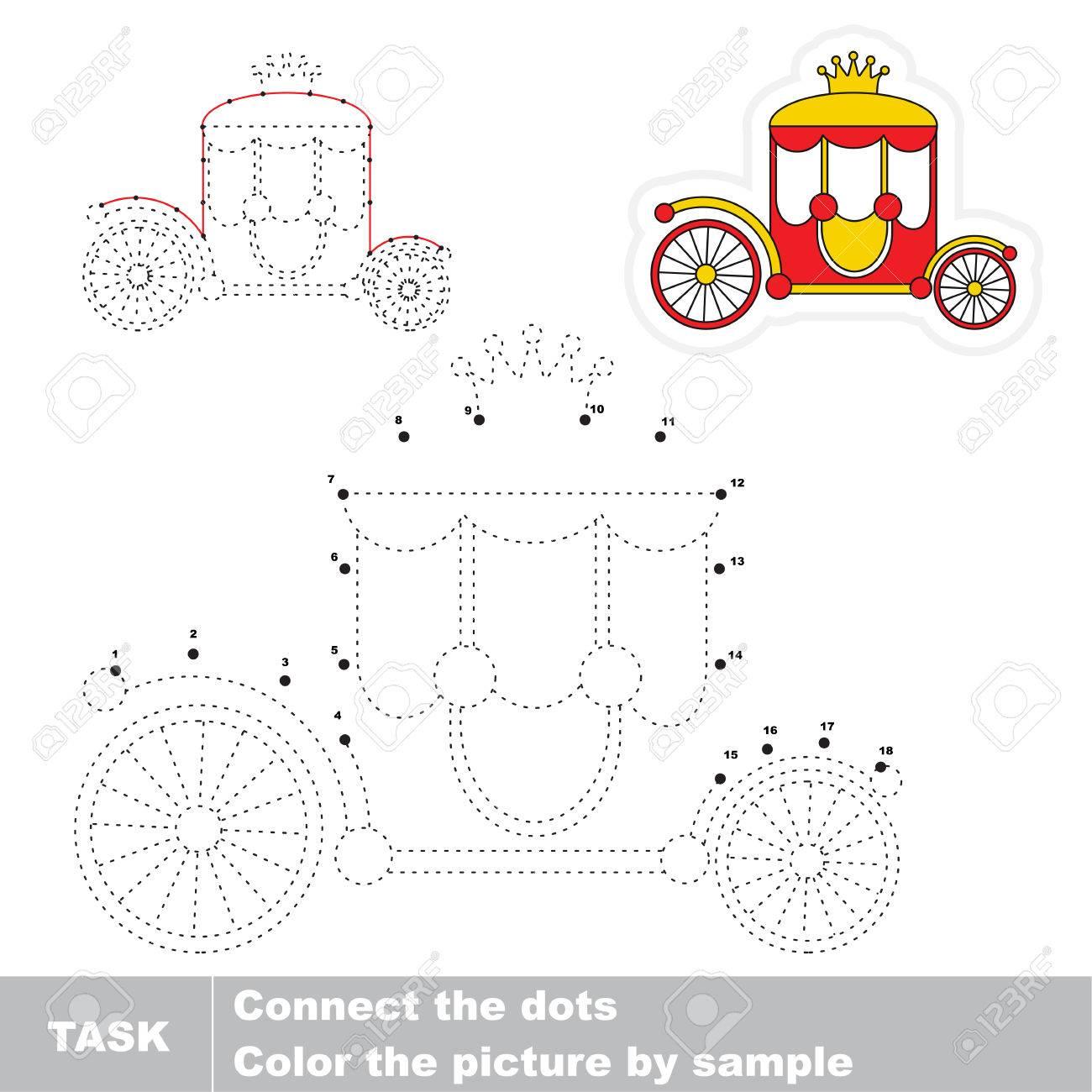 Rote Prinzessin Shariot. Punkt Zu Punkt Lernspiel Für Kinder ...