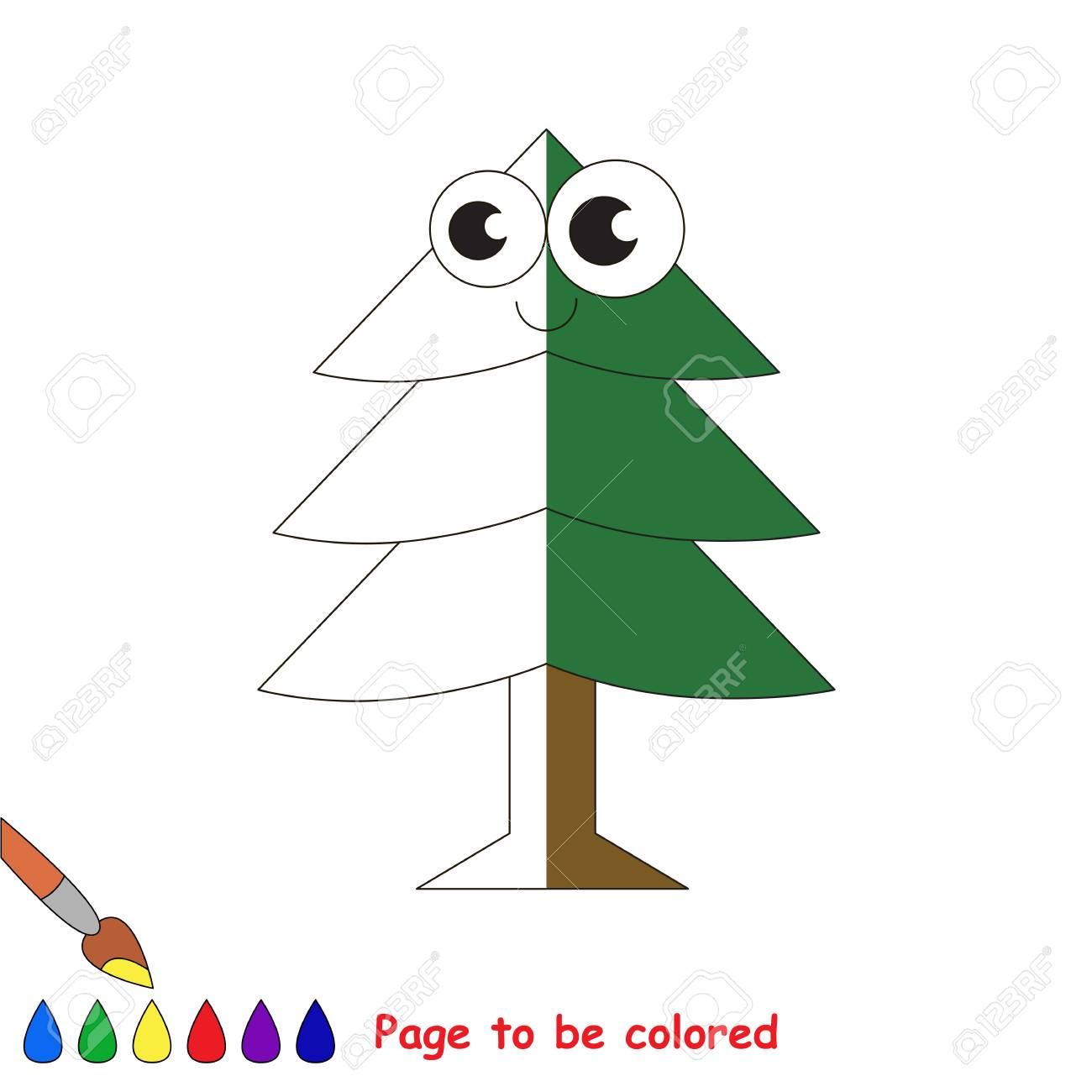 Evergree Tree, The Coloring Book To Educate Preschool Kids With ...