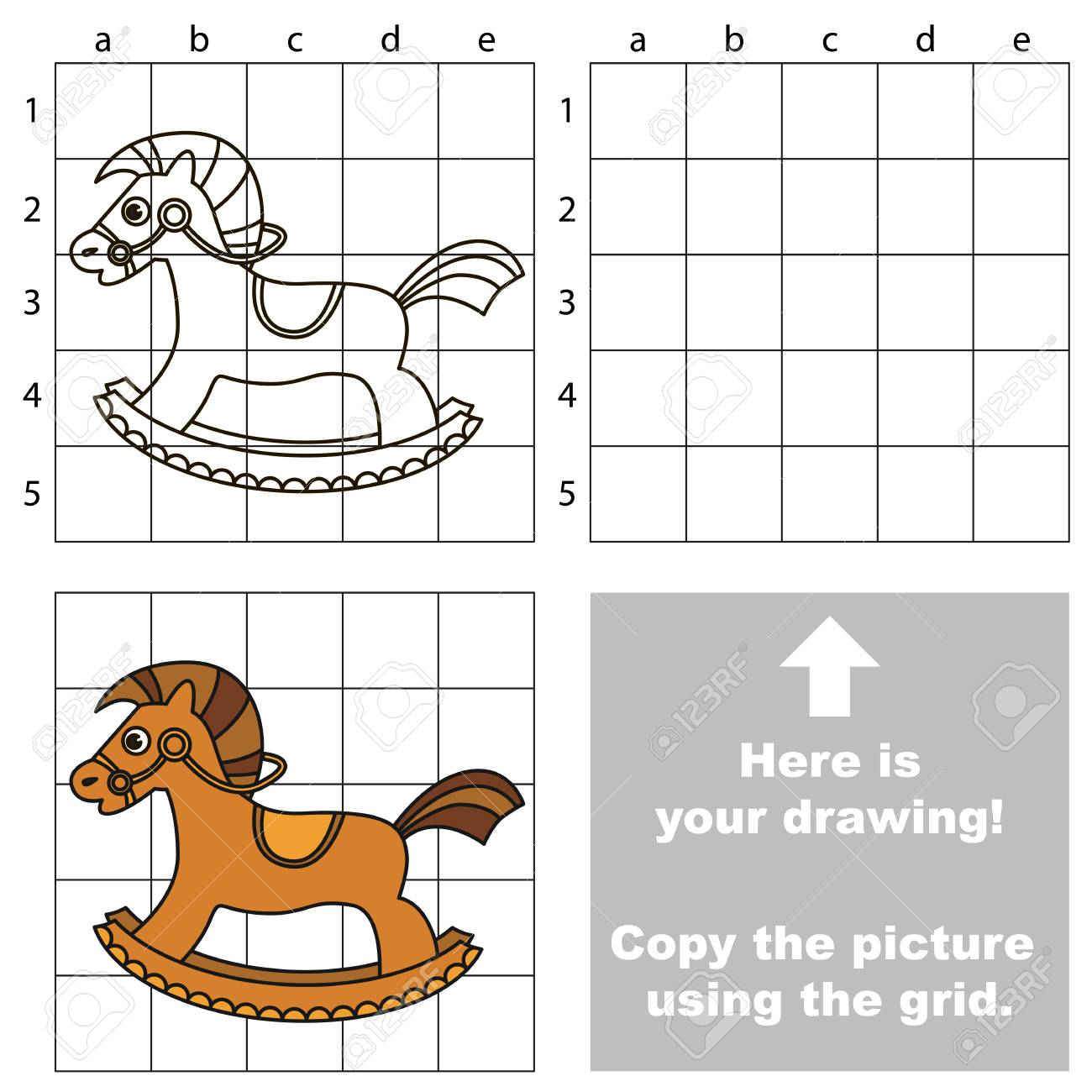 Copy The Picture Using Grid Lines The Simple Educational Game Royalty Free Cliparts Vectors And Stock Illustration Image 75834299