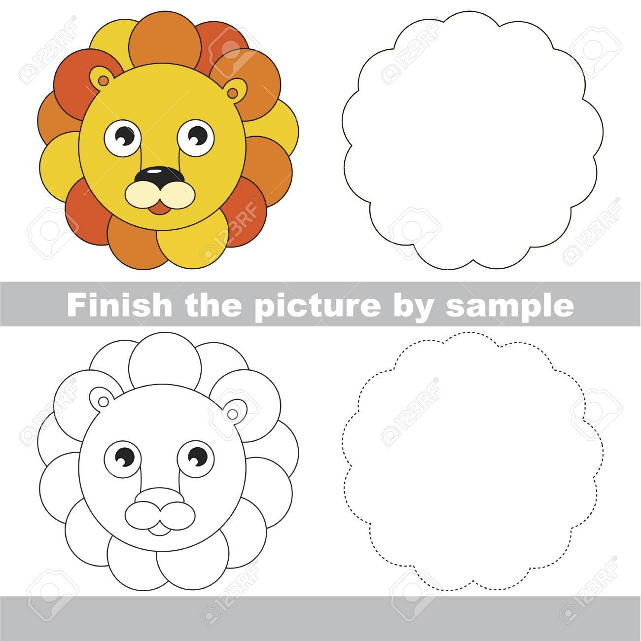 Zeichnung Arbeitsblatt Für Vorschulkinder Mit Einfachem Spielniveau ...