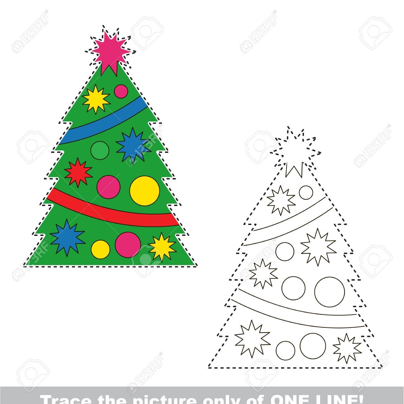 Rbol De Navidad De Ano Nuevo Que Se Remonta Solo A Una Linea El