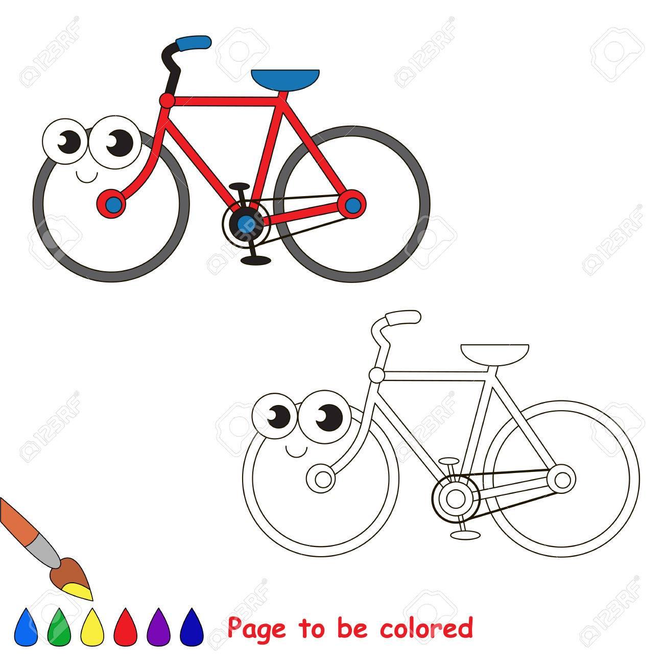 Bicicleta De Dos Ruedas Para Colorear El Libro Para Colorear Para