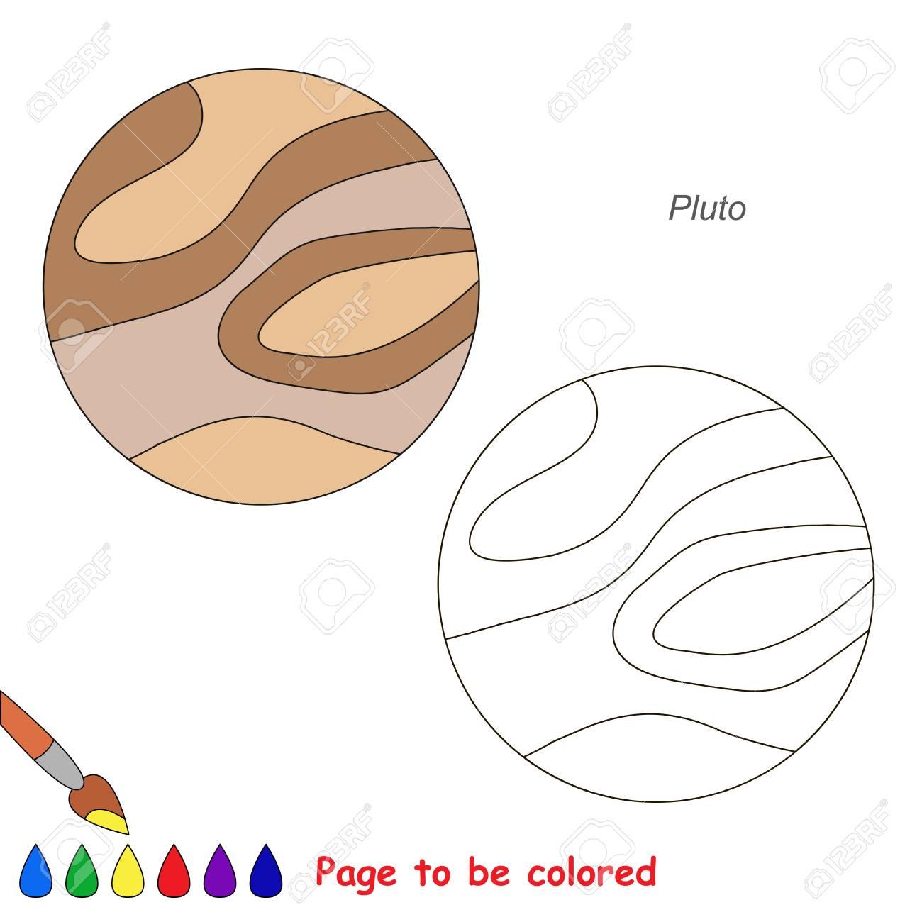 Planeta Plutón Para Colorear, El Libro Para Colorear Para Niños De ...