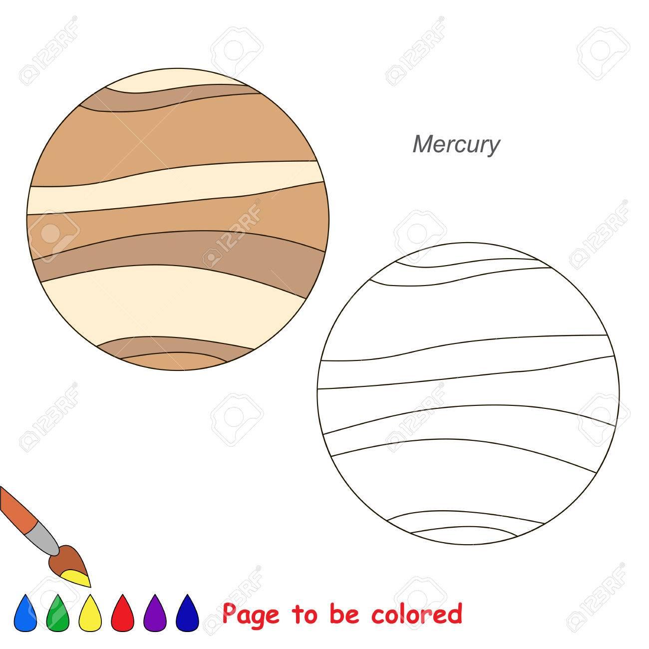 El Planeta Mercurio Será Coloreado, El Libro Para Colorear Para ...