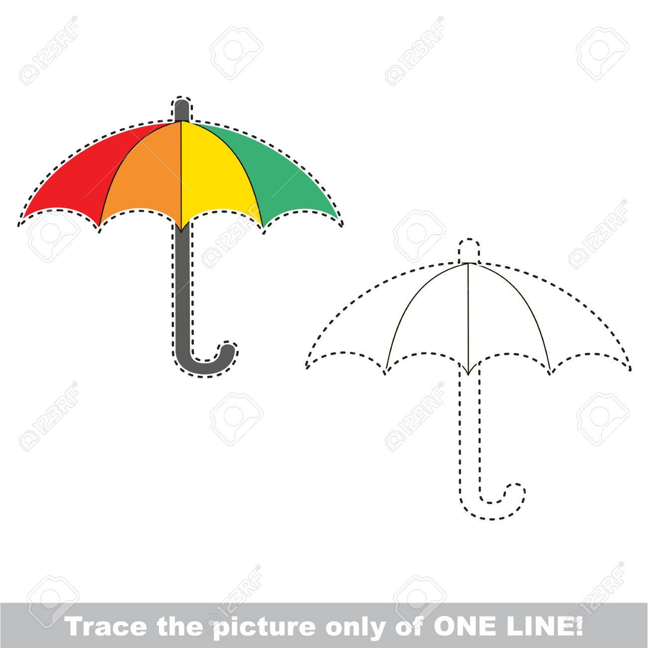 Umbrella dot to dot educational game for kids the one line dot to dot educational game for kids the one line tracing page buycottarizona Image collections