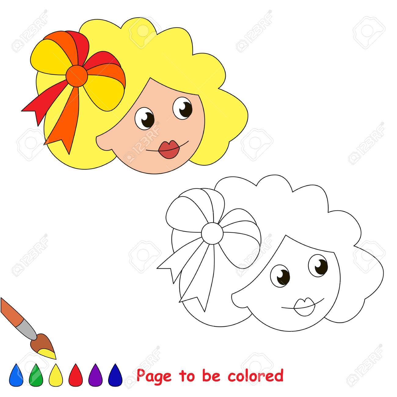 Cabeza De Muñeca Para Colorear, El Libro Para Colorear Para Niños De ...