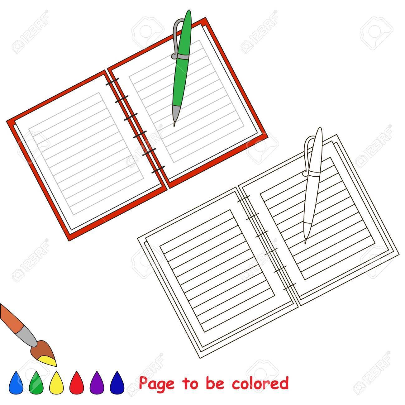 コピーブックに色レベルが簡単な教育ゲーム就学前の子供のための塗り絵