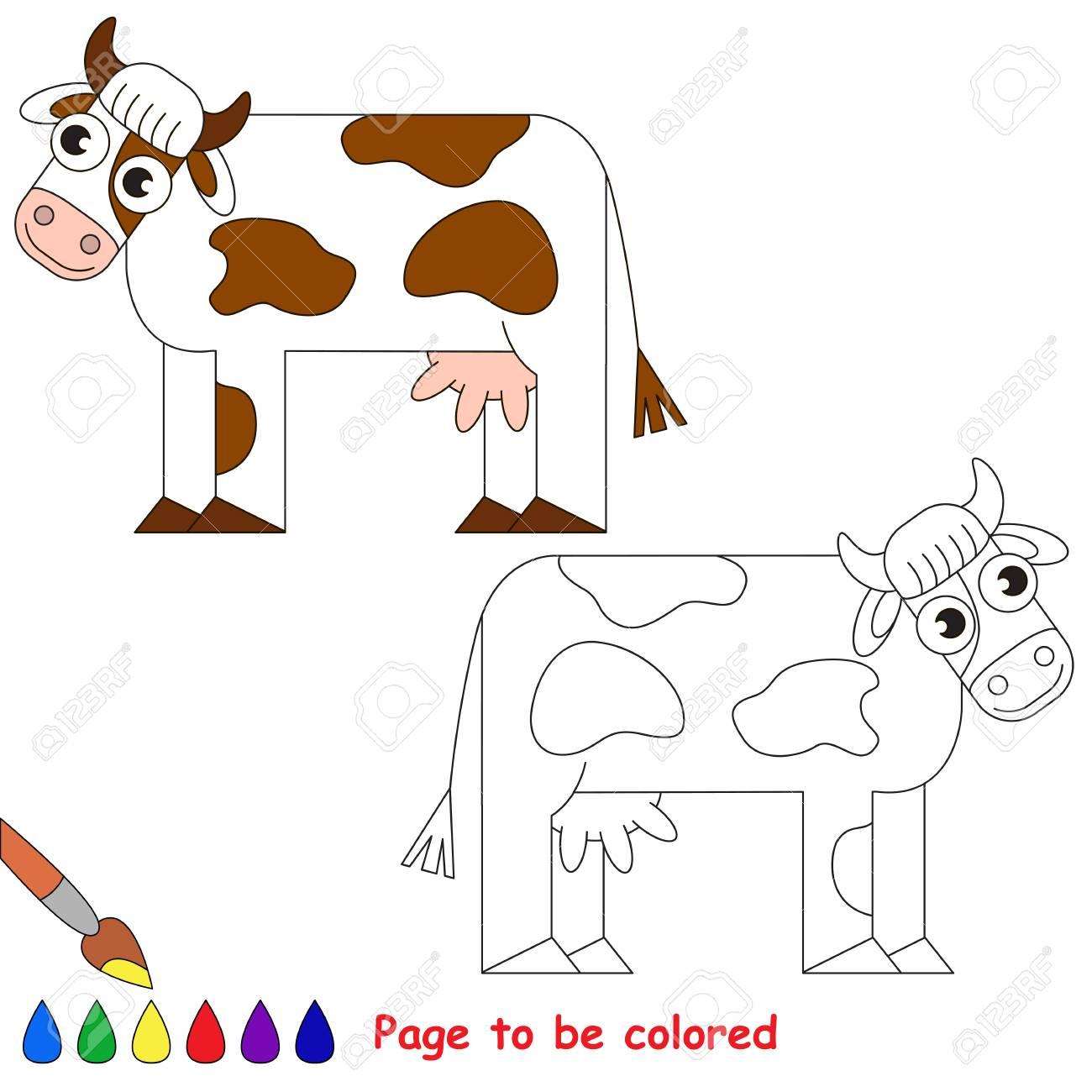 Vache A Colorier Le Livre De Coloriage Pour Les Enfants D Age