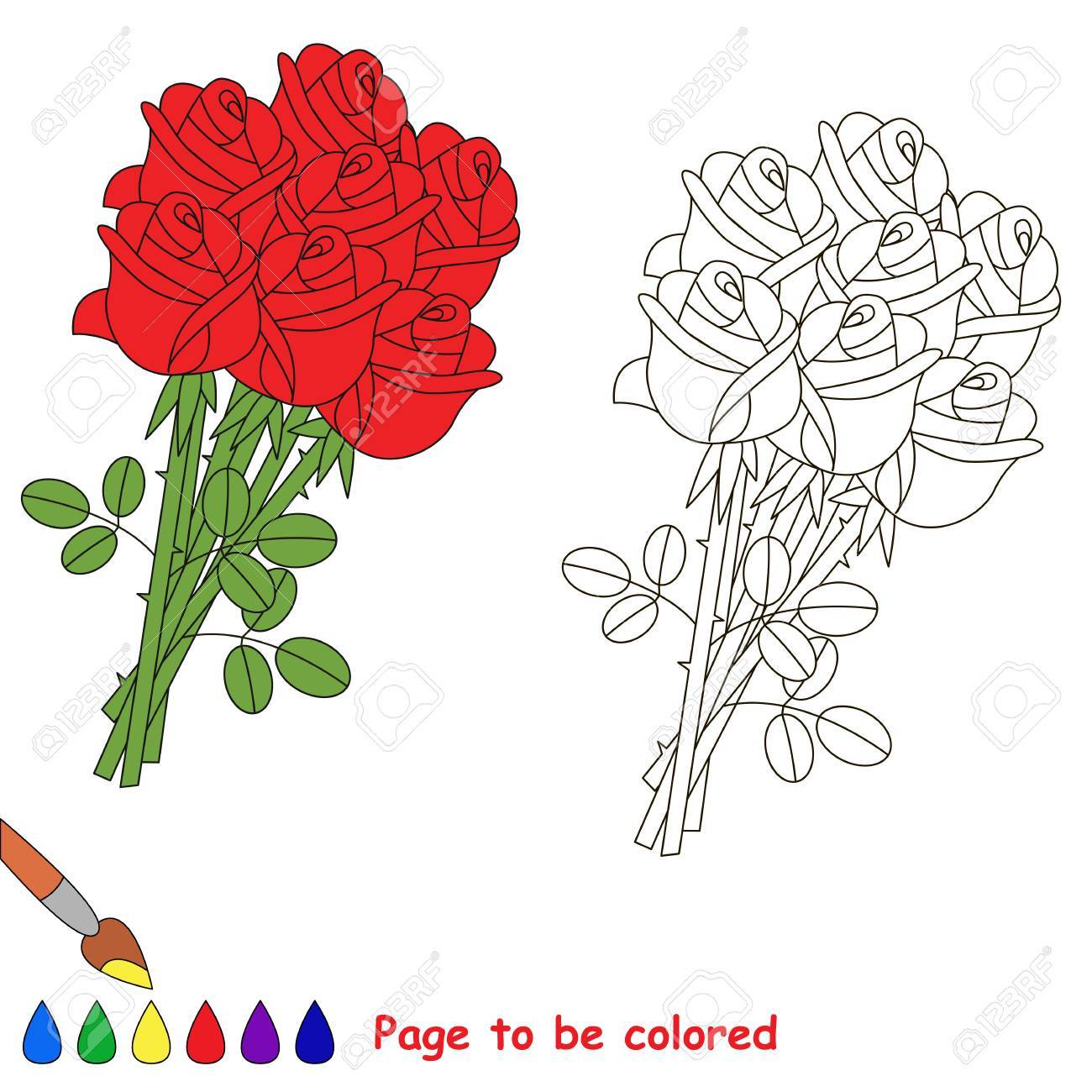 540 Coloring Book Roses Best HD