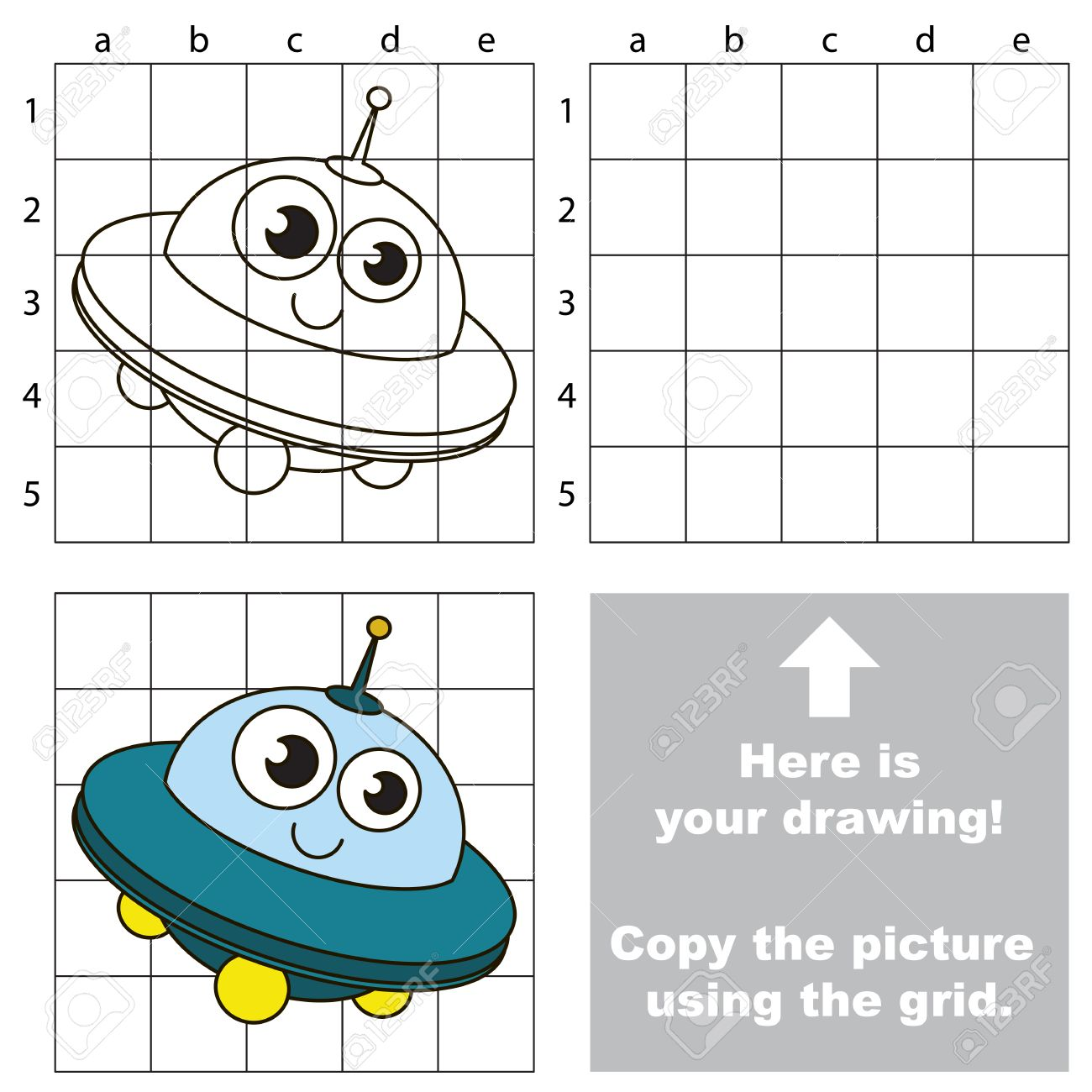 Copy The Picture Using Grid Lines The Simple Educational Game
