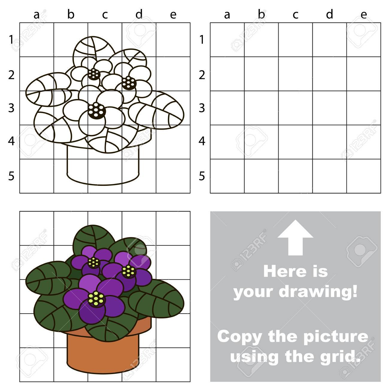 Copy The Picture Using Grid Lines The Simple Educational Game Royalty Free Cliparts Vectors And Stock Illustration Image 77928029