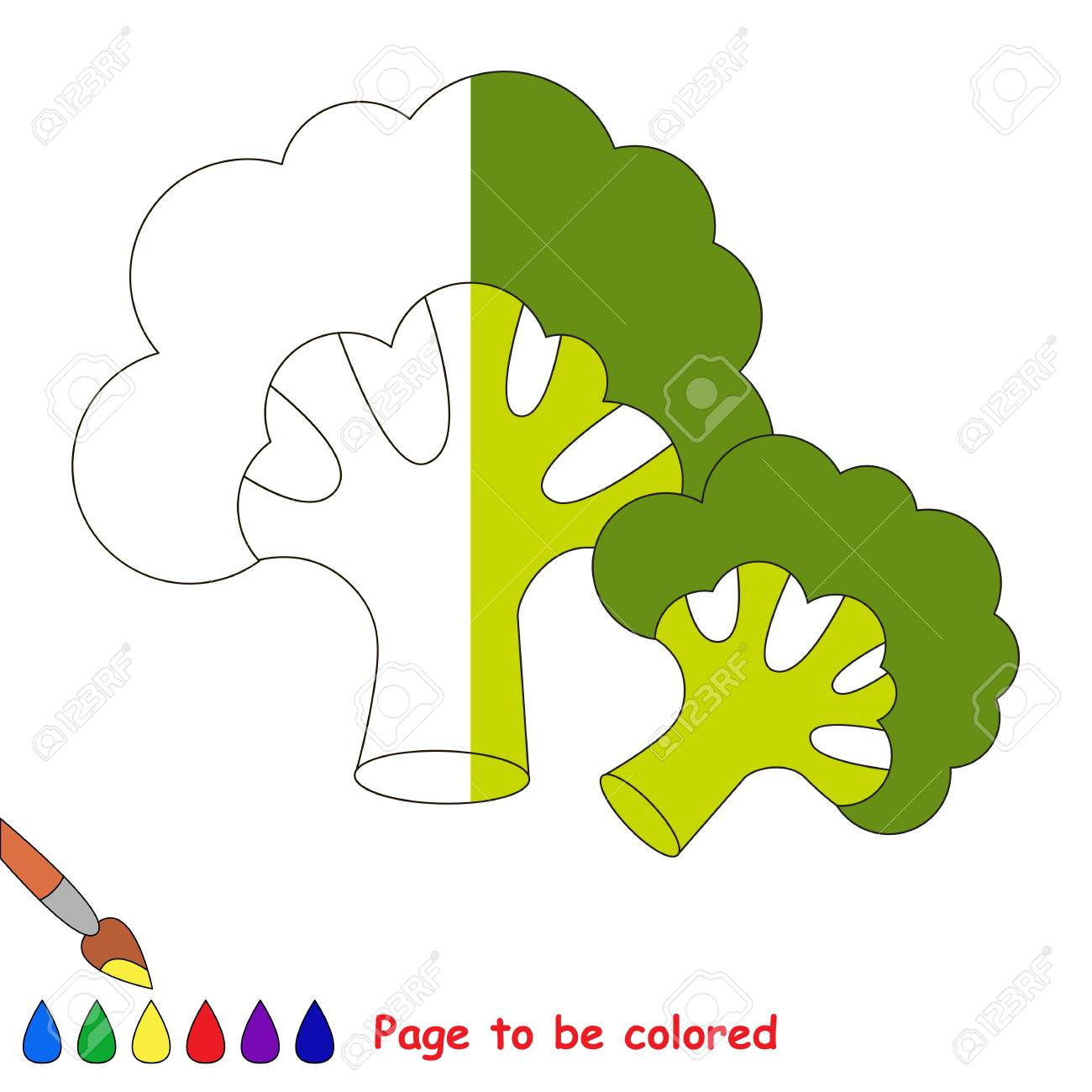One Broccoli, The Coloring Book To Educate Preschool Kids With ...