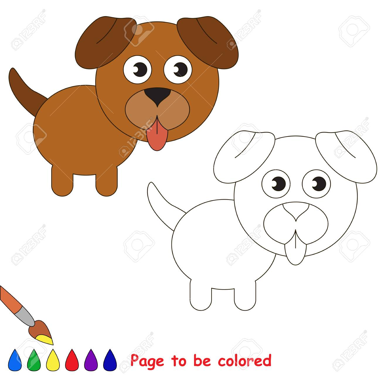 Vettoriale Cucciolo Di Cane Da Colorare Il Libro Da Colorare Per