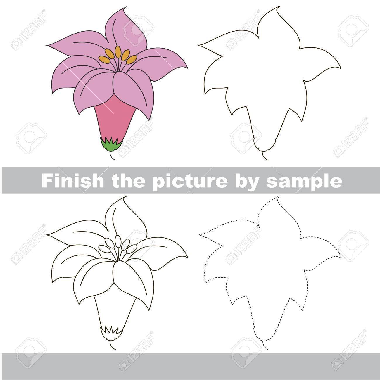Zeichnen Arbeitsblatt Für Vorschulkinder Mit Einfachen Spiel ...