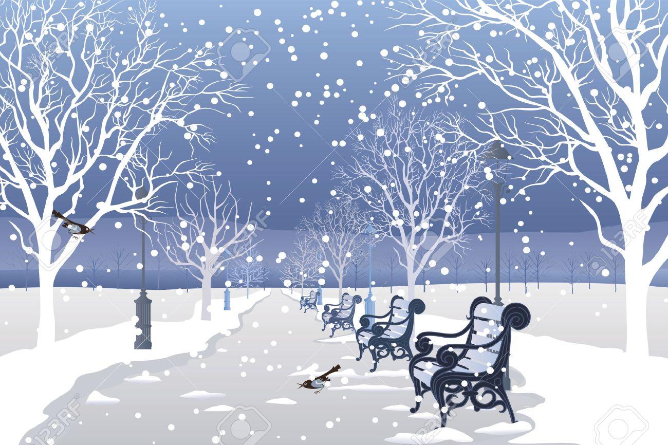 Зима рисунки у дома в городе 3