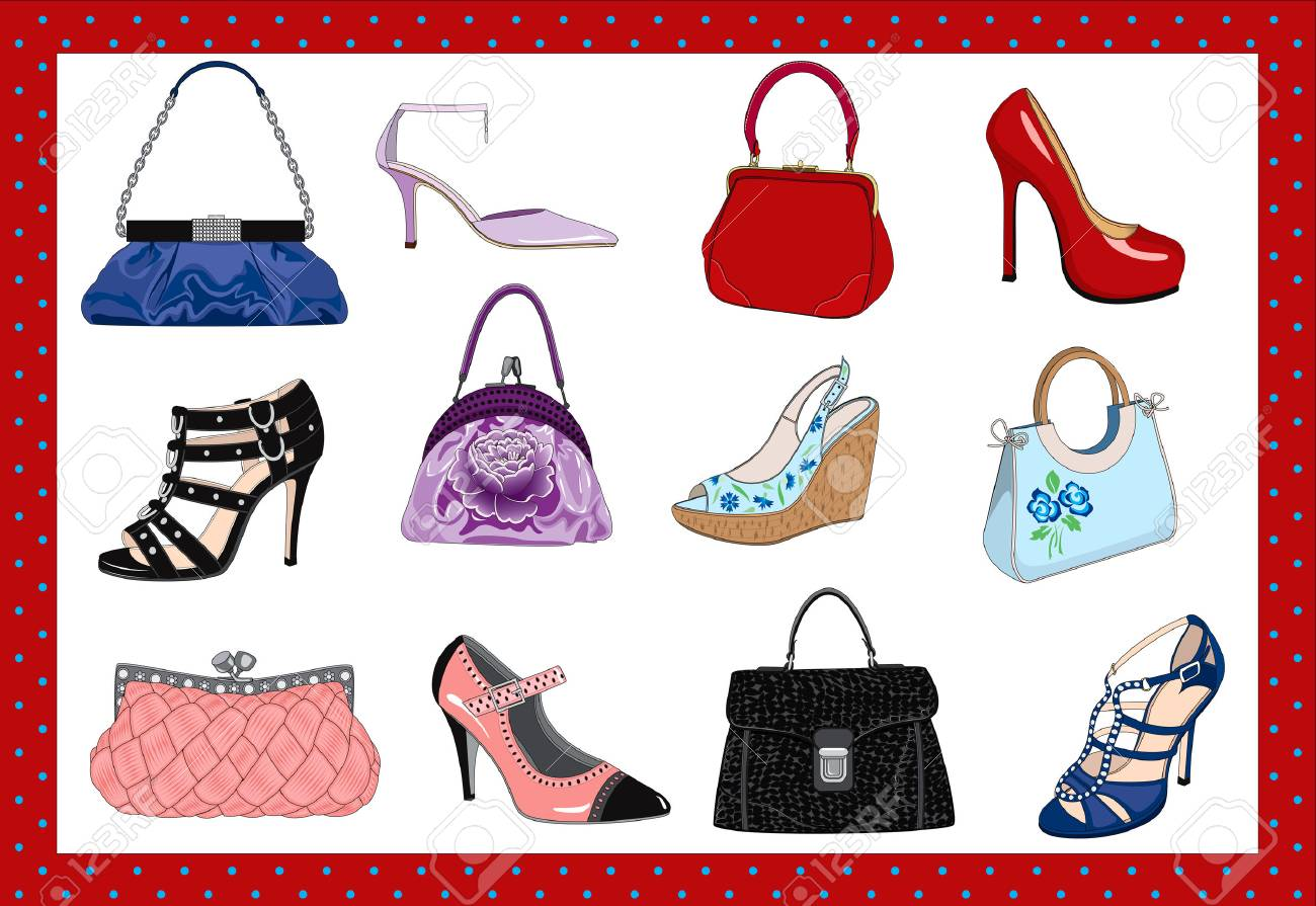 Hand Bags And Shoes Royalty Free Cliparts Vectors And Stock