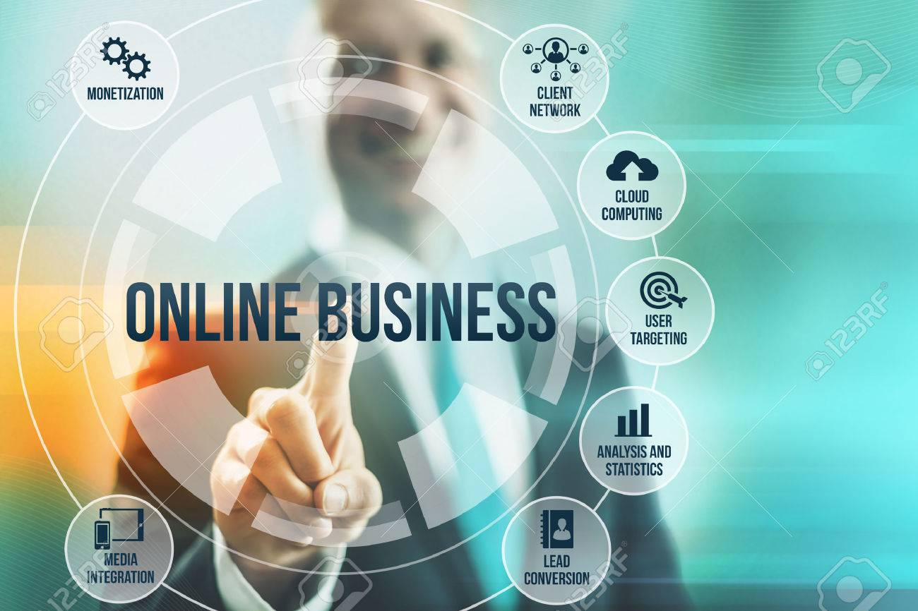 business man selecting online business concepts stock photo 24138809 business concepts