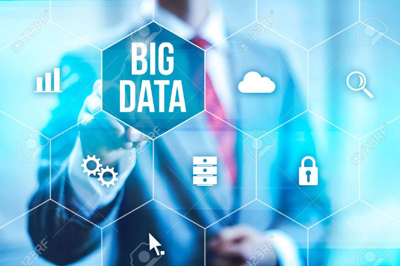 Big data concept man selecting and pressing big data symbol stock big data concept man selecting and pressing big data symbol stock photo 32621565 biocorpaavc