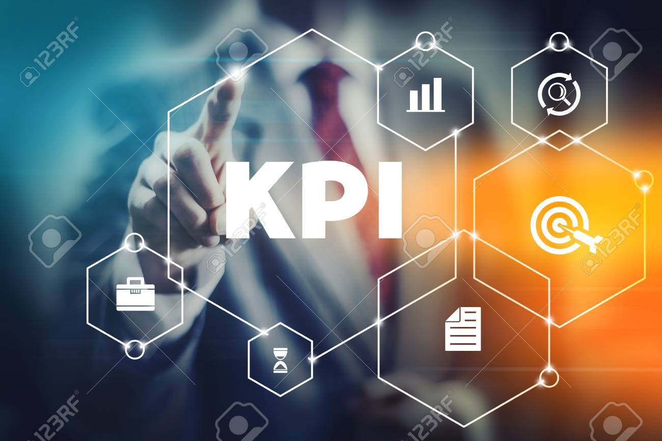Kpi Business Man Selecting Word Kpi Meaning Key Performance Indicator Stock Photo Picture And Royalty Free Image Image 118926849