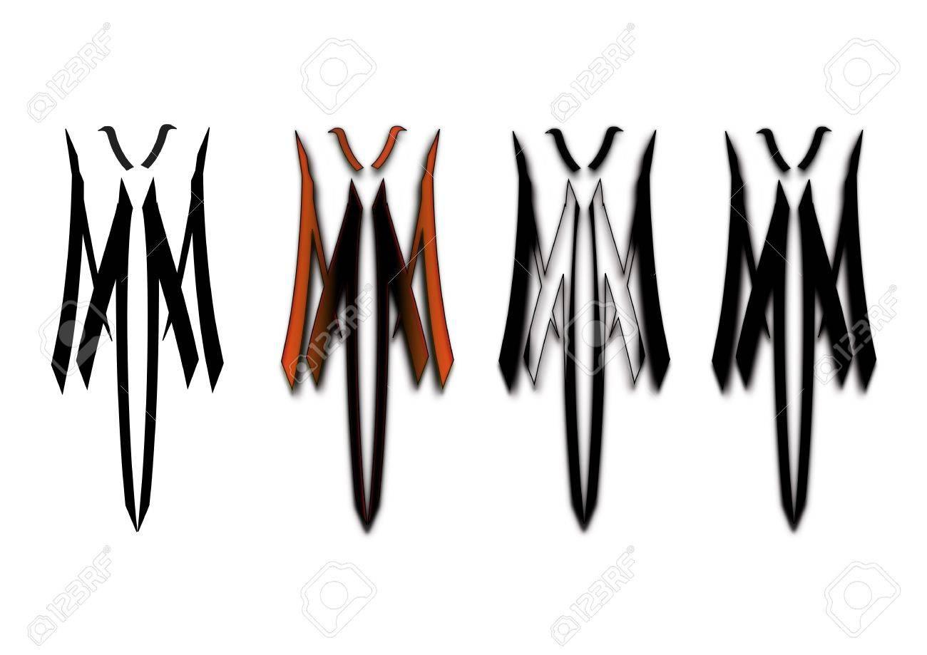 Fallen angel tribal Stock Vector - 14704348