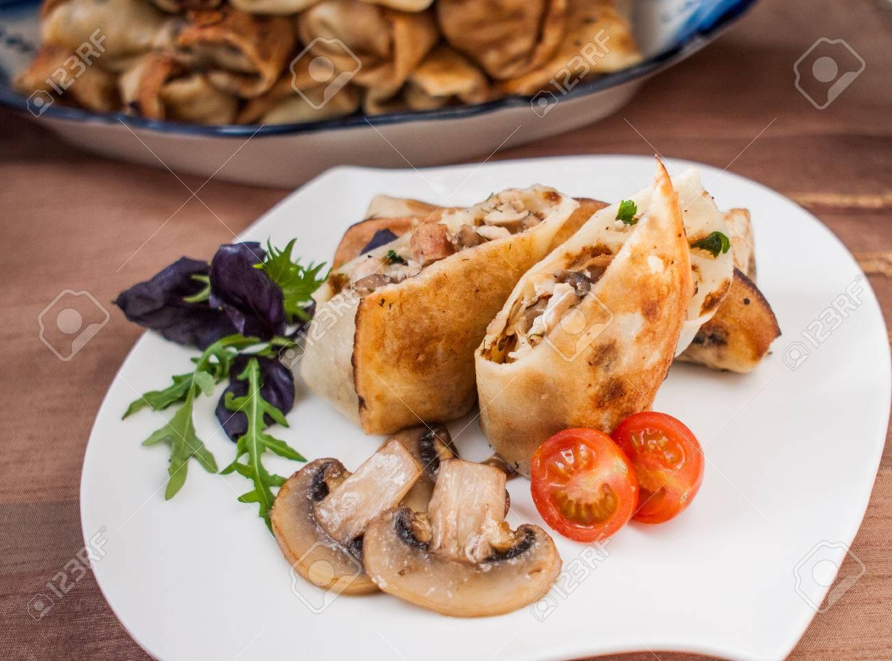 Stuffed pancakes recipe chicken