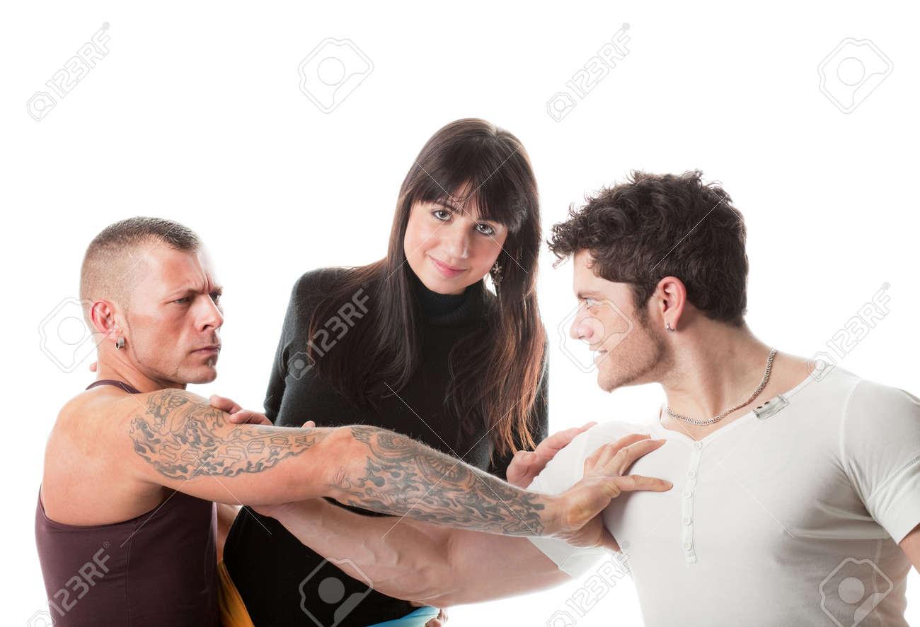 Фото двое мужчин на одной девушке 16 фотография