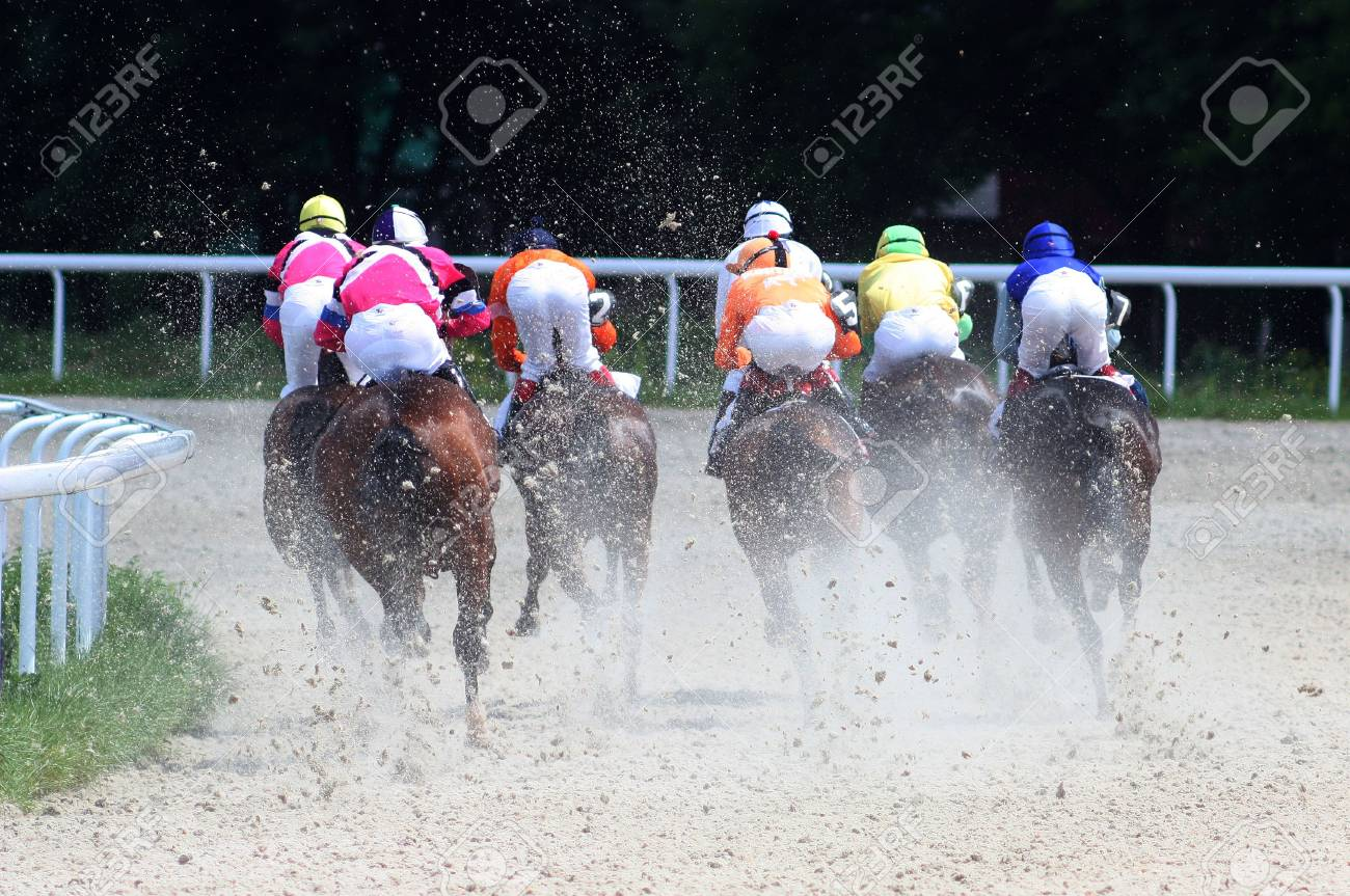 PYATIGORSK, RUSSIA - MAY 30: The race for the prize of the haras