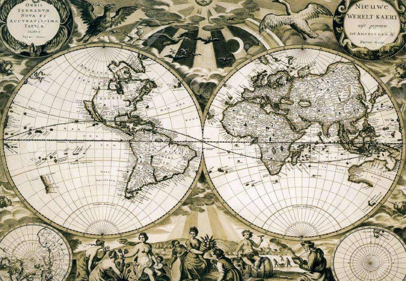 Old paper world map, Holland. Stock Photo - 8951915